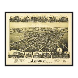 Toile Vue aérienne de Somerset, Pennsylvanie (1900)