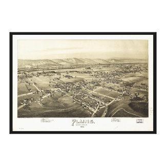 Toile Vue aérienne des plaines, Pennsylvanie (1892)