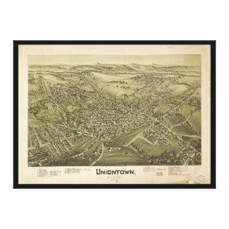 Toile Vue aérienne d'Uniontown, Pennsylvanie (1897)