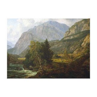 Toile Vue de Johan Christian Dahl de Fortundalen