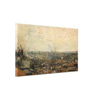 Toile Vue de Van Gogh de Paris de Montmarte, beaux-arts
