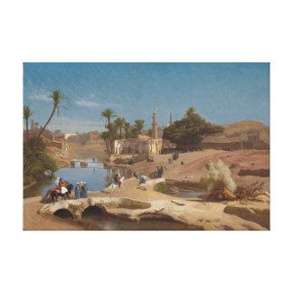 Toile Vue d'EL-Fayoum de Medinet
