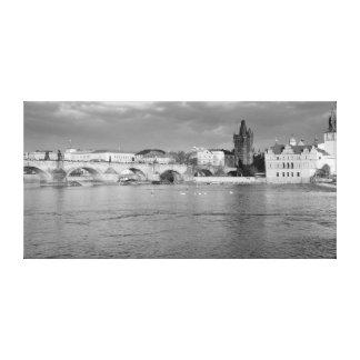 Toile Vue du pont de Charles à Prague