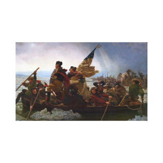 Toile Washington art vintage croisant Delaware - USA