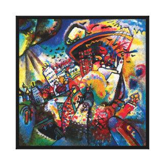 Toile Wassily Kandinsky - art abstrait de paysage urbain