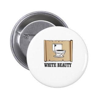 toilette blanche de beauté badge rond 5 cm
