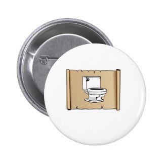 toilette sur le rouleau badge rond 5 cm
