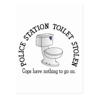 Toilette volée carte postale
