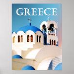 Toit d'église et tour de Bell Grèce Posters