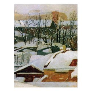 Toits de ville en hiver par Ivan Shishkin Carte Postale