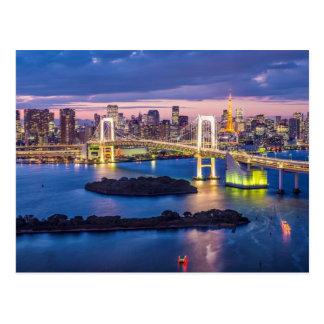 Tokyo à la carte postale de nuit