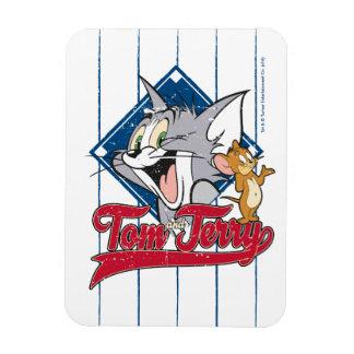 Tom et Jerry   Tom et Jerry sur le diamant de Magnet Flexible