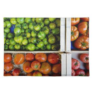 Tomaten van kleuren placemat