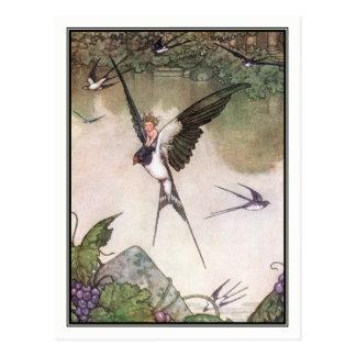 Tommelise par la bruyère Robinson de William Carte Postale