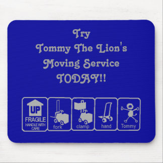 Tommy le lion MousePad dans bleu et gris Tapis De Souris