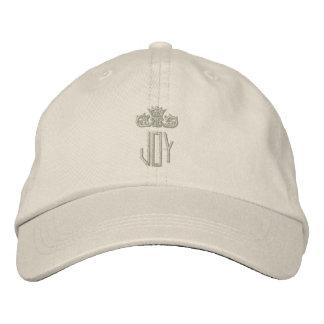 Ton élégant sur le ton décoré d'un monogramme casquette de baseball brodée