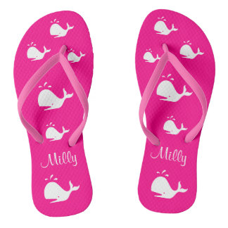 Tongs Baleine blanche magenta 4Jennifer