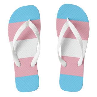 Tongs Fierté du drapeau LGBT de transsexuel