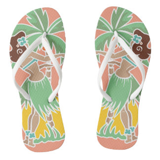 Tongs Miel de danse polynésienne - corail - bascules