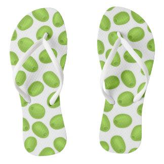 Tongs Motif avec les olives vertes