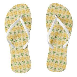 Tongs Motif d'ananas
