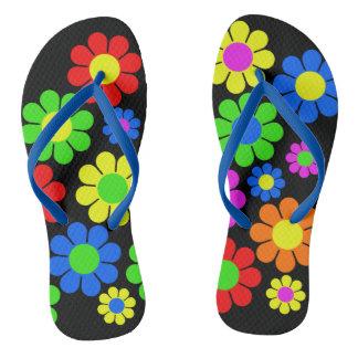 Tongs Sandales de fleur de hippie