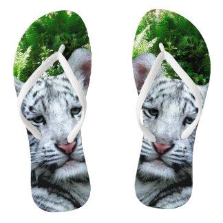 Tongs Tigre blanc