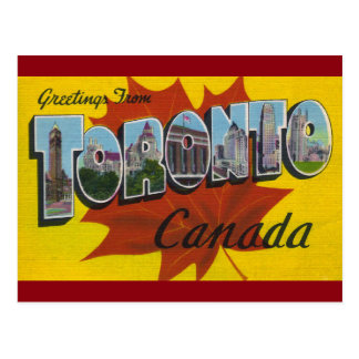 TORONTO CANADA - het Vintage Art. van de Reis Briefkaart