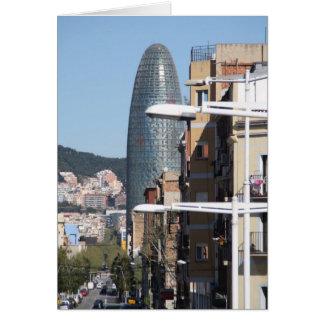 Torre Agbar, Barcelone Carte