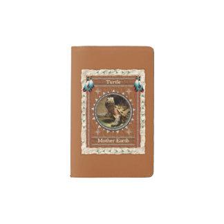 Tortue - couverture de velours de coton de carnet