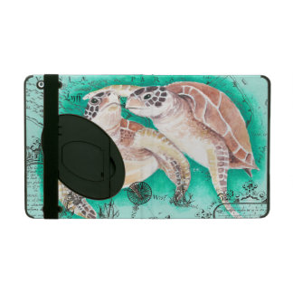 Tortues de mer turquoises coque iPad