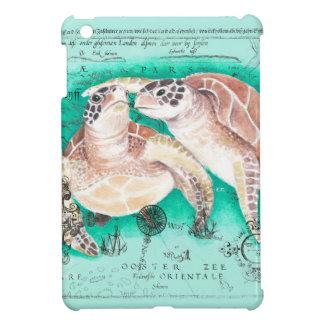 Tortues de mer turquoises coques pour iPad mini