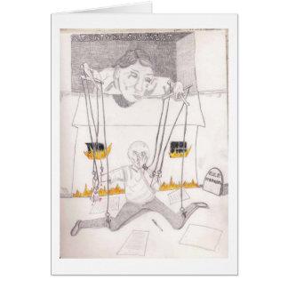 Torturez l'artiste carte de vœux
