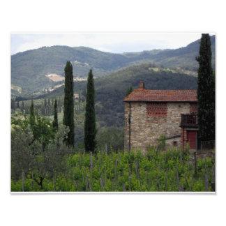 Toscaanse Boerderij Foto Afdruk