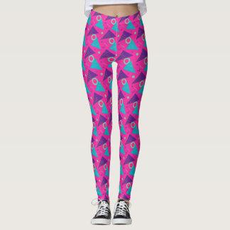 Totalement triangles de roses indien des années 80 leggings
