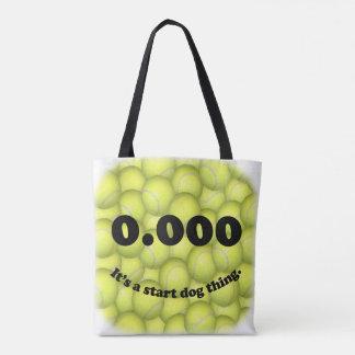 Tote Bag 0,000, le début parfait, c'est une chose de chien