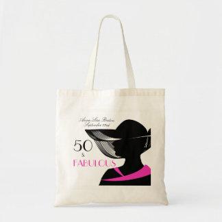Tote Bag 50 et anniversaire élégant d'art déco fabuleux