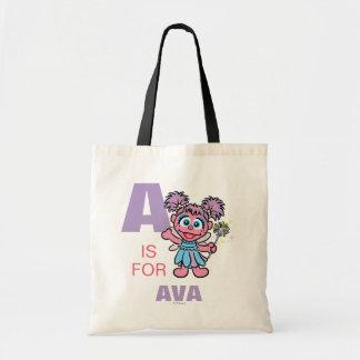 Tote Bag A est pour Abby Cadabby que | ajoutent votre nom
