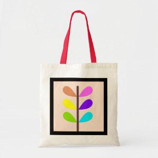 Tote Bag Abrégé sur coloré plante