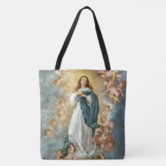 Tote Bag Acceptation de Mary dans le ciel