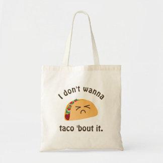 Tote Bag Accès de taco 'il humour drôle de calembour de