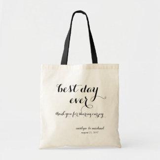 Tote Bag Accueil d'invité de mariage : le meilleur jour