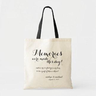 Tote Bag Accueil d'invité de mariage : SOUVENIRS