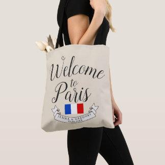 Tote Bag Accueillez à la coutume de mariage de destination
