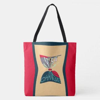 Tote Bag Achats classiques modernes rouges de changement de