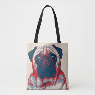 Tote Bag Affiche d'espoir de Woof de carlin rétro