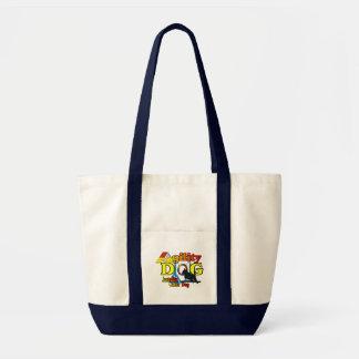 Tote Bag Agilité australienne de chien de bétail