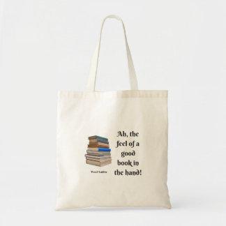 Tote Bag Ah, la sensation d'un bon livre dans la main
