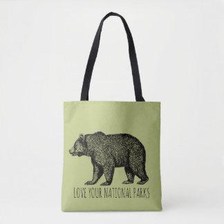 Tote Bag Aimez vos parcs nationaux ne soutiennent aucun 2