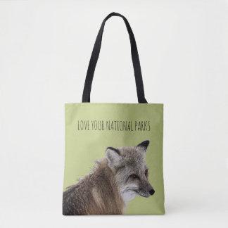 Tote Bag Aimez votre Fox de parcs nationaux
